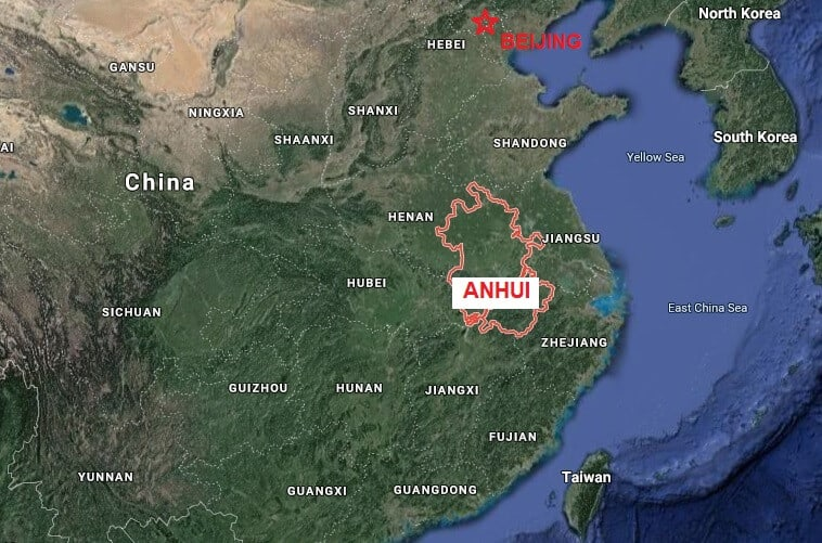 anhui province map