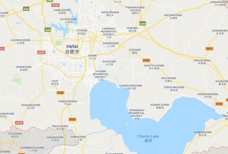 hefei china map